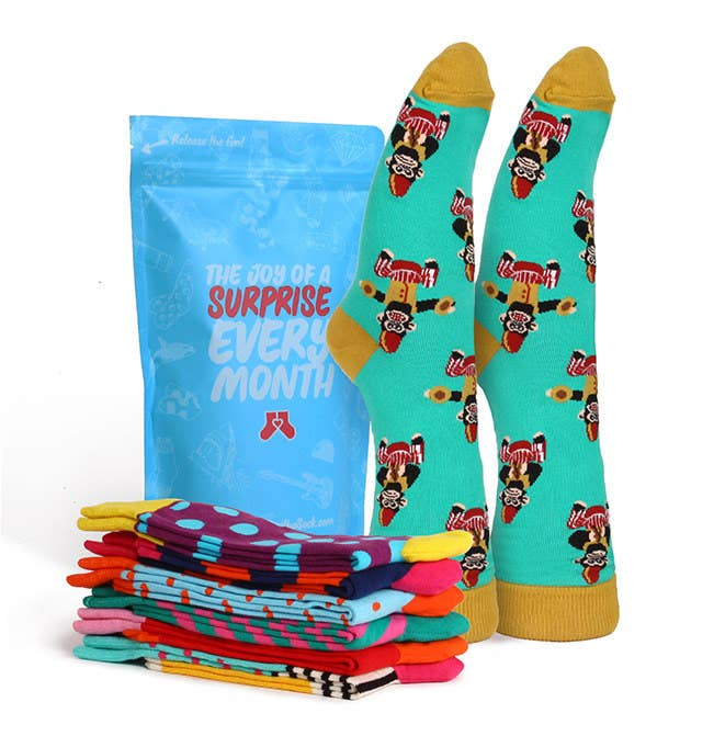 Choose from subscriptions of one, two, or three pairs per month for either men or women. Socks brands include Happy Socks, Sock It To Me, and more.Get a 3-, 6-, or 12-month gift subscription starting at $11.99 per month.