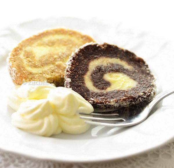 Chocolate Coconut Swiss Roll