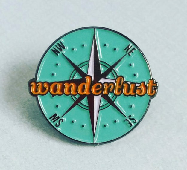 A compass pin that will ~most likely~ guide you in the right direction.