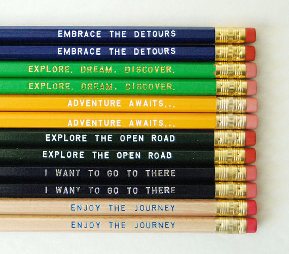 Colorful pencils that encourage you to take the road less traveled.