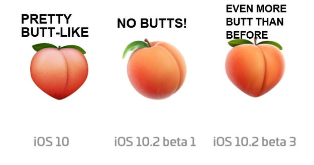 In fact, the new peach emoji actually looks MORE like a butt than the original one.