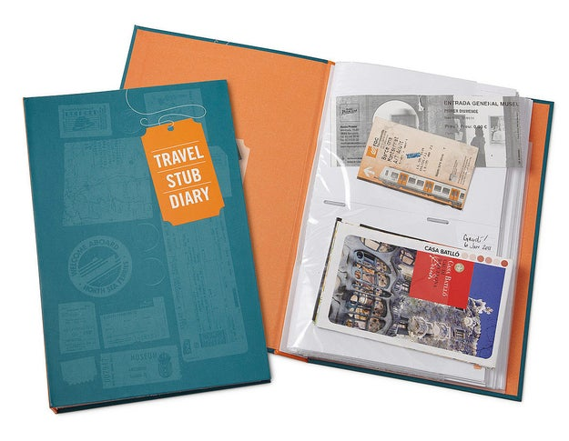 A scrapbook that organizes all the unassuming pieces of paper that led you to incredibly exciting places.