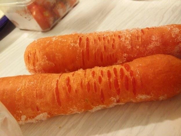 Estas cenouras congeladas: