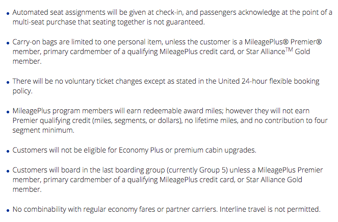 United S New Quot Basic Economy Quot Ticket Is An Insult To Human
