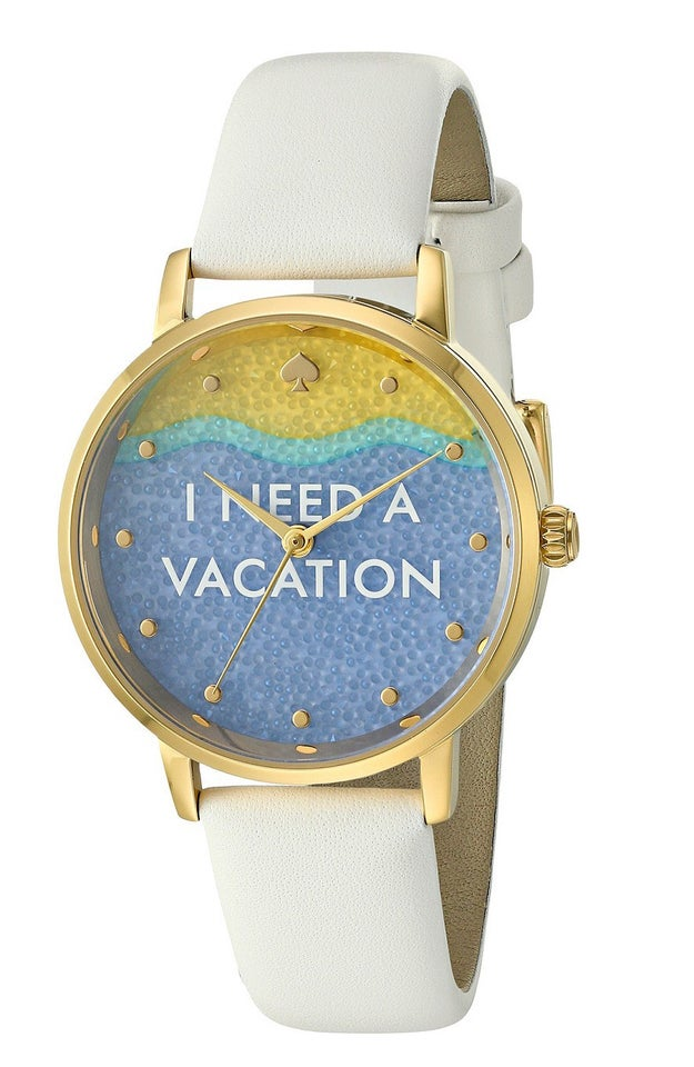 A fashionable watch that lets your vacation-deprived self tell it straight.