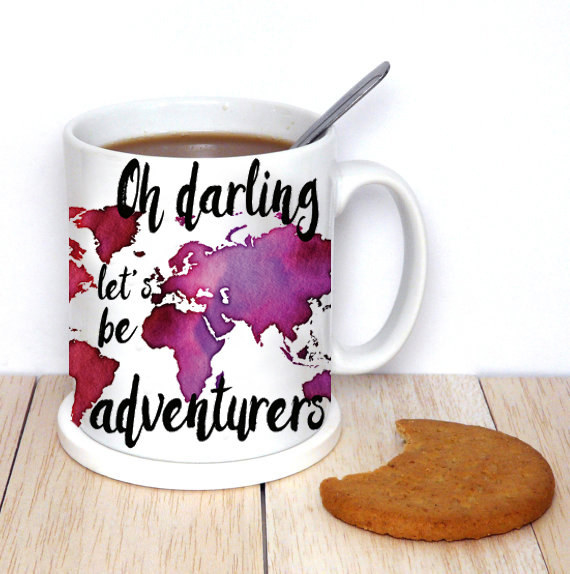 A ~darling~ mug that hints at a special travel buddy.