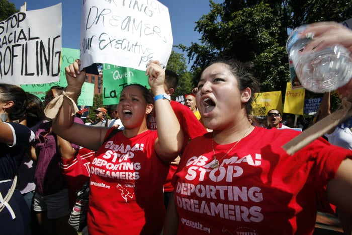 A rally in support of the DREAM Act asking for President Obama to stop deportations of illegal immigrant students in 2011.