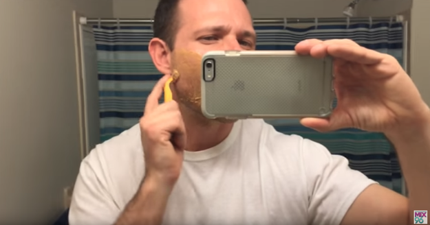 But did you know you can do other stuff with peanut butter besides eat it? For one, you can use it to shave.