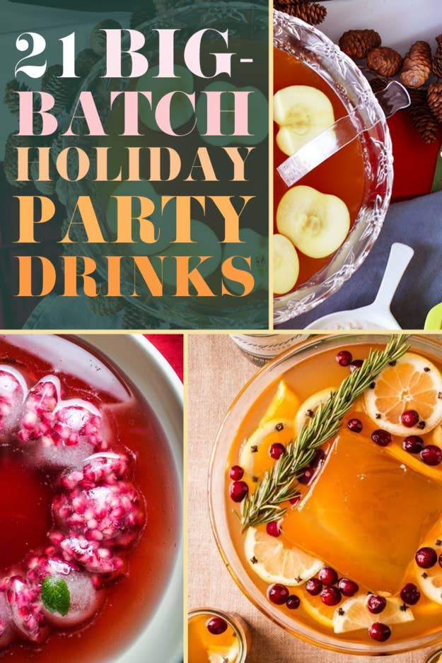 So you're not trapped at the bar cart, wearing your arms out with a cocktail shaker.Check out all the recipes here. And check out 21 Big-Batch Cocktails To Get Your Family Drunk On Thanksgiving here.