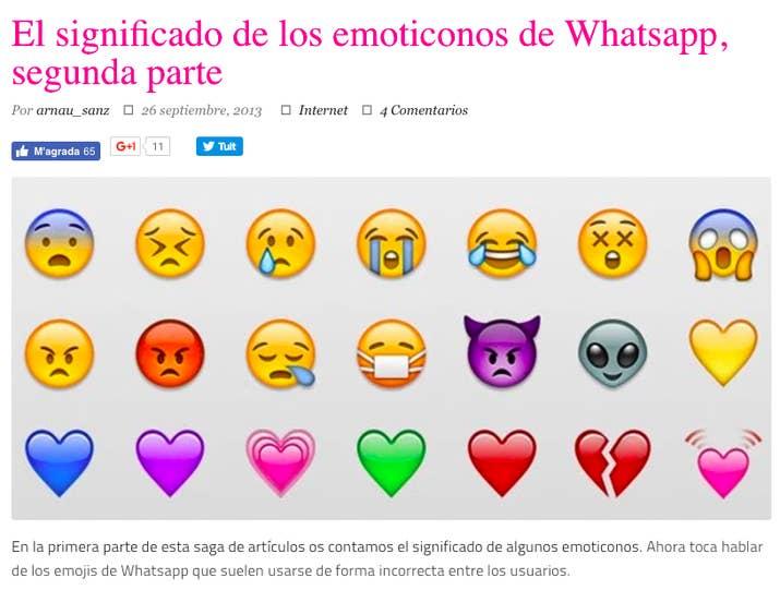 emoticons whatsapp significado
