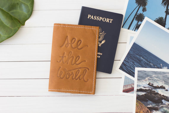 A custom-made passport holder to store the only thing they actually need.