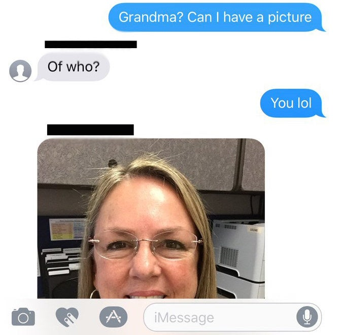 """I really thought it was my grandma so I had to ask for a picture to make sure,"" he explained."