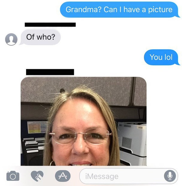 Hinton told BuzzFeed News he thought it was his grandmother texting him, but to verify, he asked for a photo.