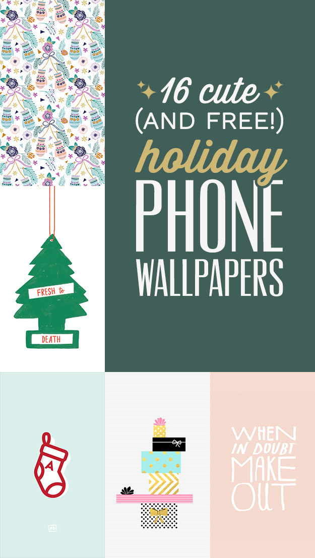 16 Cute Free Phone Backgrounds To Get You Into The Holiday Spirit
