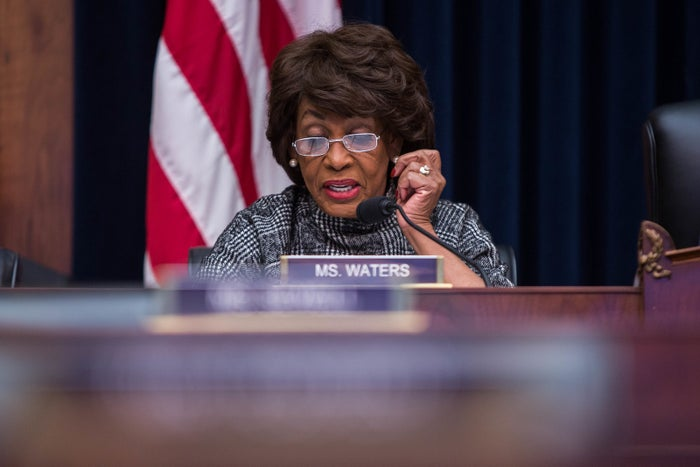 Rep. Maxine Waters speaks during a House Financial Services Committee hearing on Nov. 15.