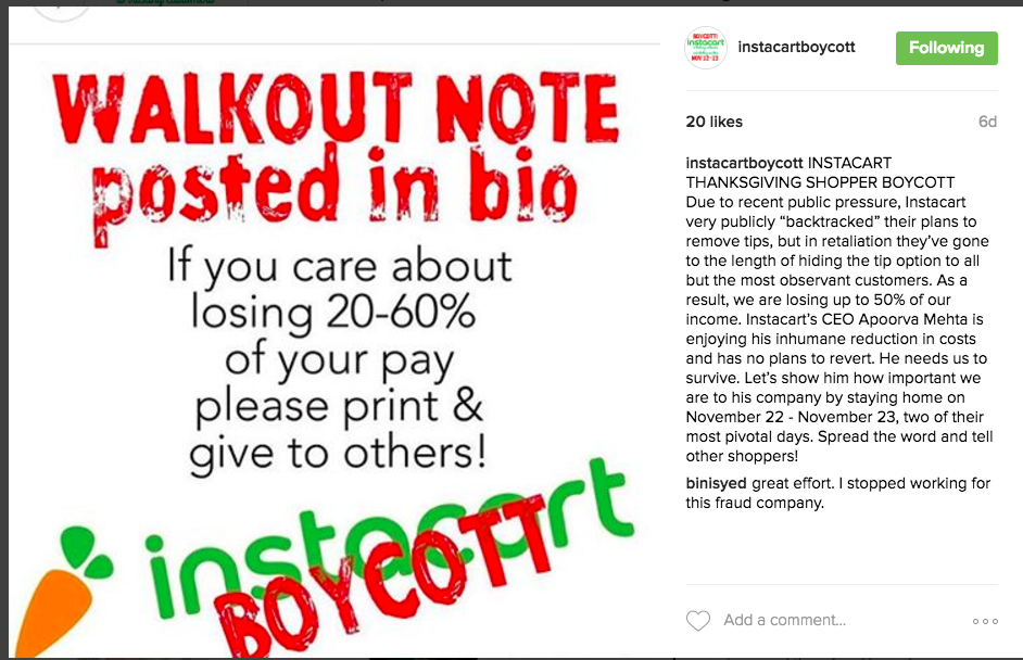 Instacart's Tipping Transparency Issues Could Lead To