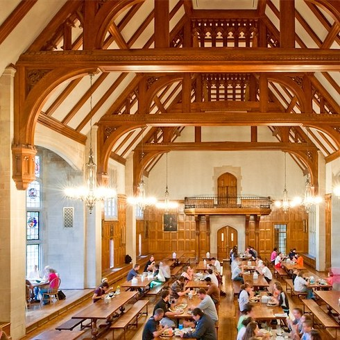 16 university campuses that might secretly be hogwarts for Buzzfeed best dining rooms