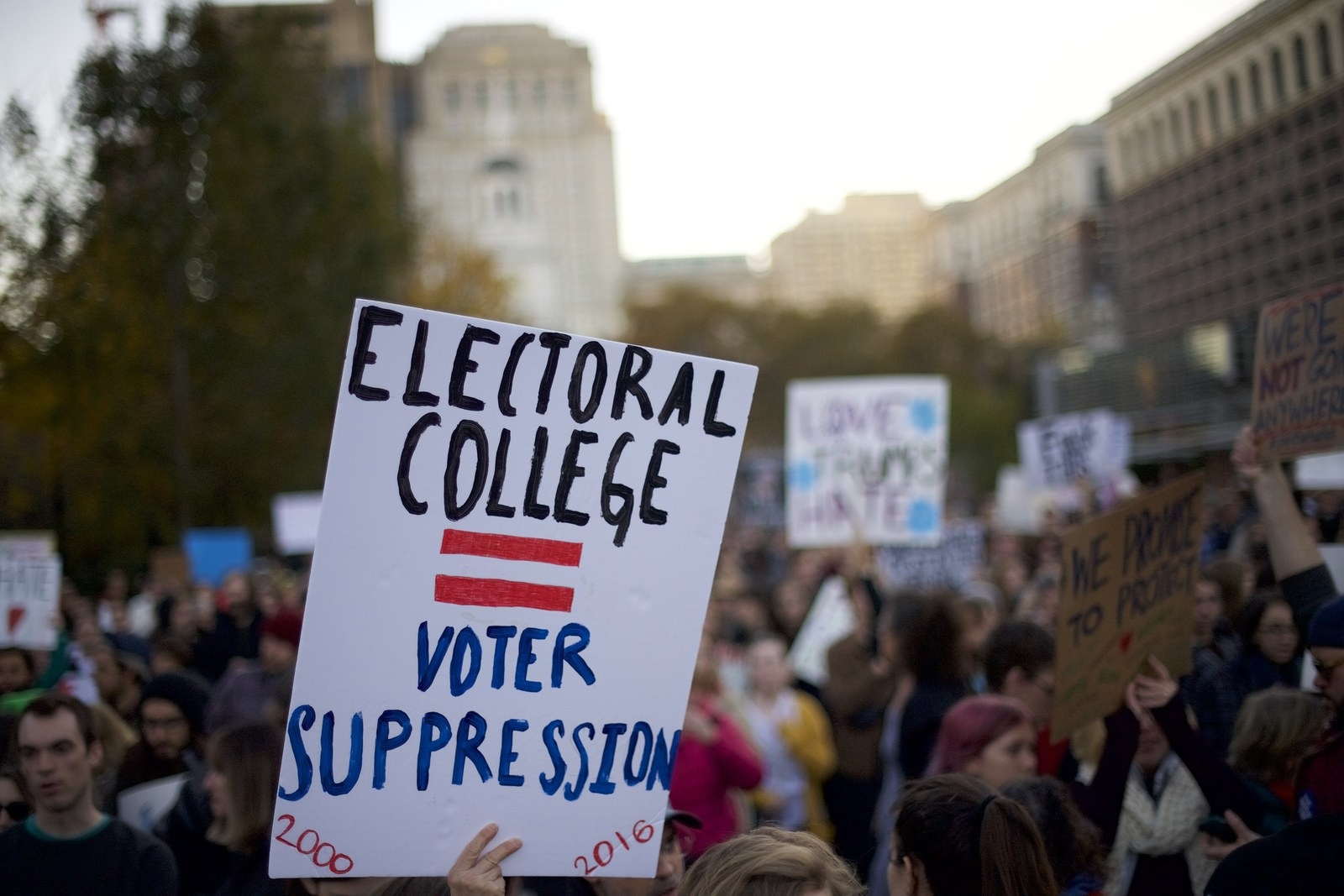 Anti-Trump Protesters Post Personal Information Of Electoral College Members