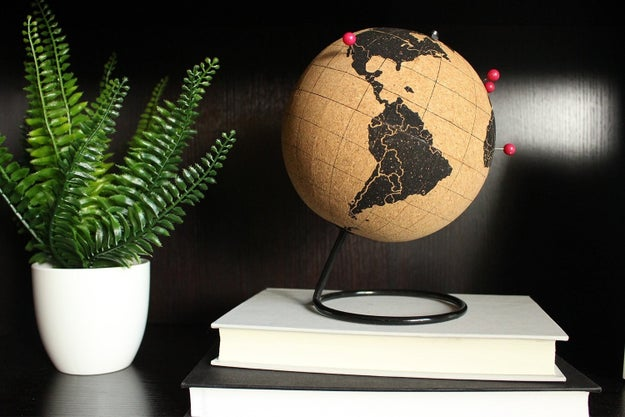 A globe, so they can stick a pin in all the destinations on their bucket list.