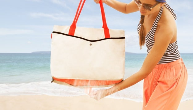 A tote that's perfect for all those tropical travels, because it'll never get sand stuck inside it.