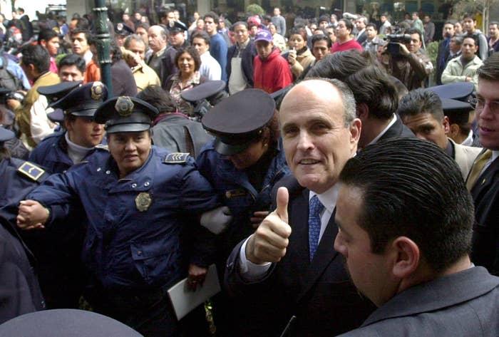 Rudy Giuliani in Mexico City in 2013