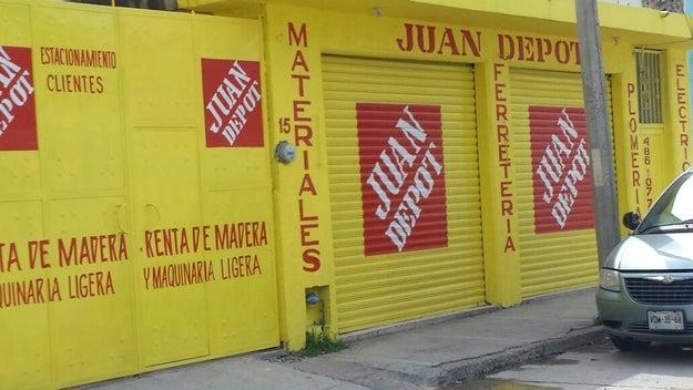Esta tienda para el hogar llamada Juan Depot que nada tiene que ver con Home Depot.
