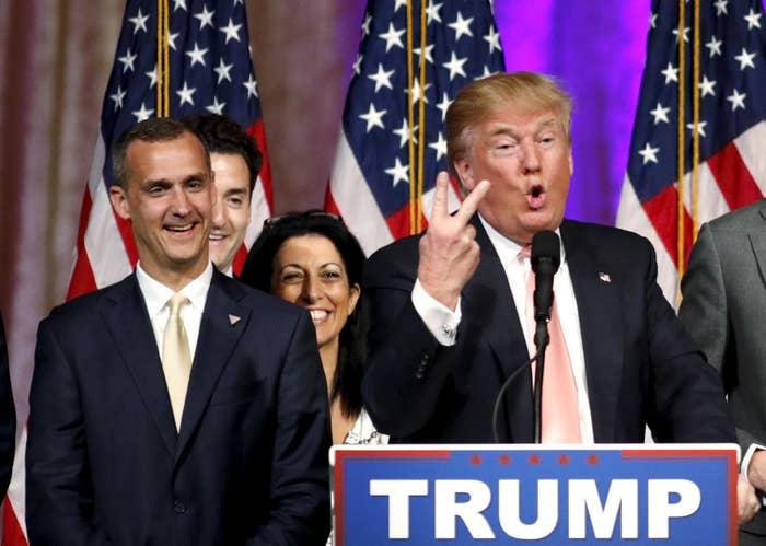 Corey Lewandowski with Donald Trump in March 2016.