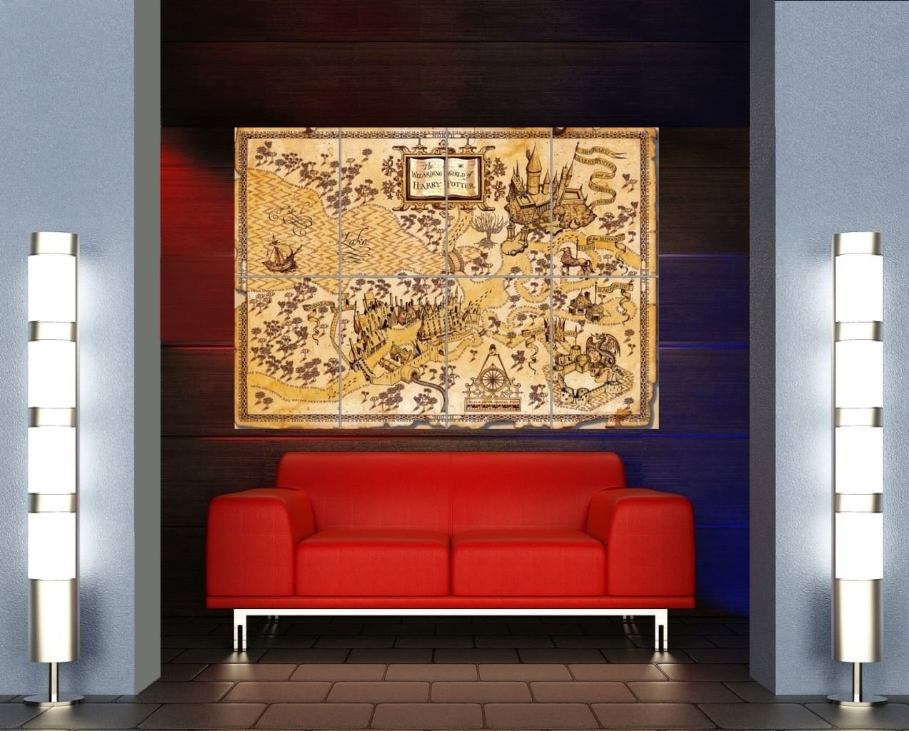 12. Map Out The Best Way To The Quidditch Pitch With This Larger Than Life  Magical Hogwarts Map. Part 91