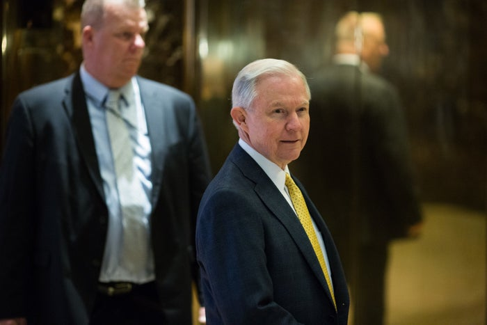 Jeff Sessions arrives at Trump Tower, New York City, on Nov. 16, 2016.