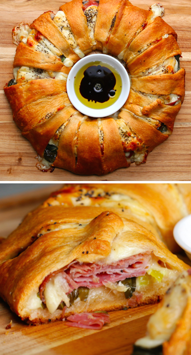 Wrap a can around ham and cheese to satiate the hungriest of crowds.