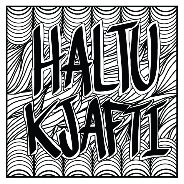 "Ease your mind by coloring ""Haltu kjafti 2016!"" Icelandic for ""Shut the fuck up 2016."""