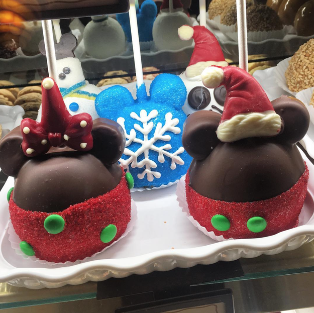 There are holiday-themed treats throughout the park.