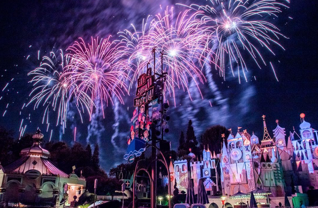 You can get a great view of the fireworks at It's a Small World as well.