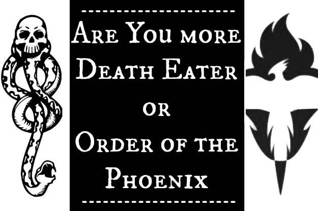 Are You More Order Of The Phoenix Or Death Eater?