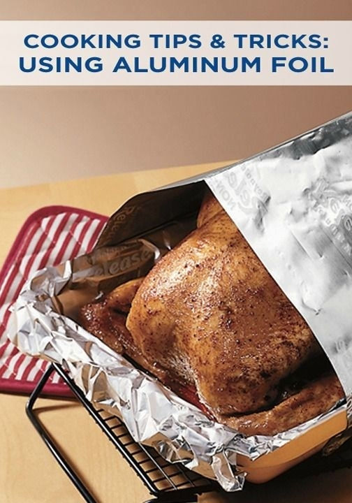 Or, completely cover your roasting pan with foil before you put the turkey on it.
