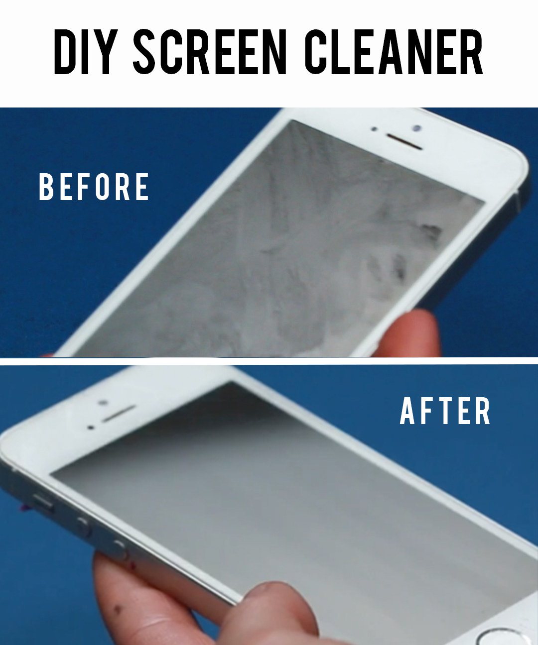 how to clean greasy tv screen