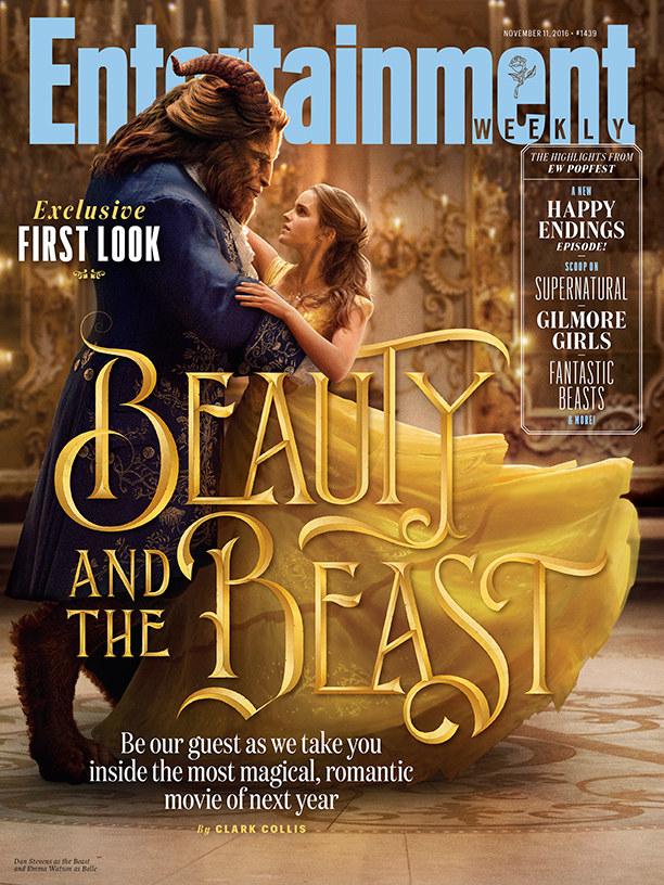 But we haven't gotten a full-on first look at Belle and the Beast in their iconic costumes. UNTIL NOW, thanks to Entertainment Weekly.