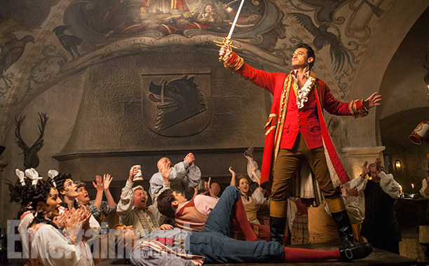 And maybe even more importantly, here's our first look at Luke Evans as Gaston!!!
