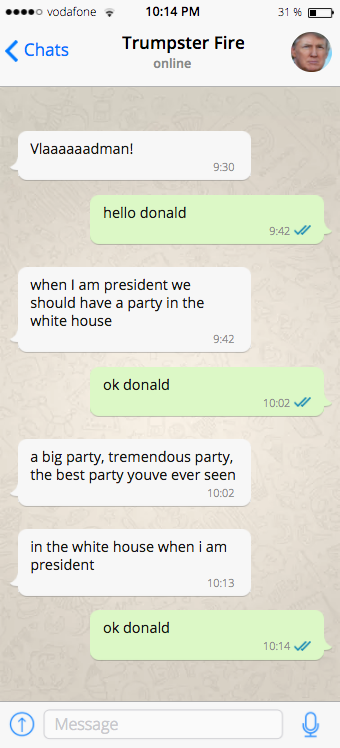 11 Totally Legit, Absolutely Not Fake Leaked Texts From Trump To Putin