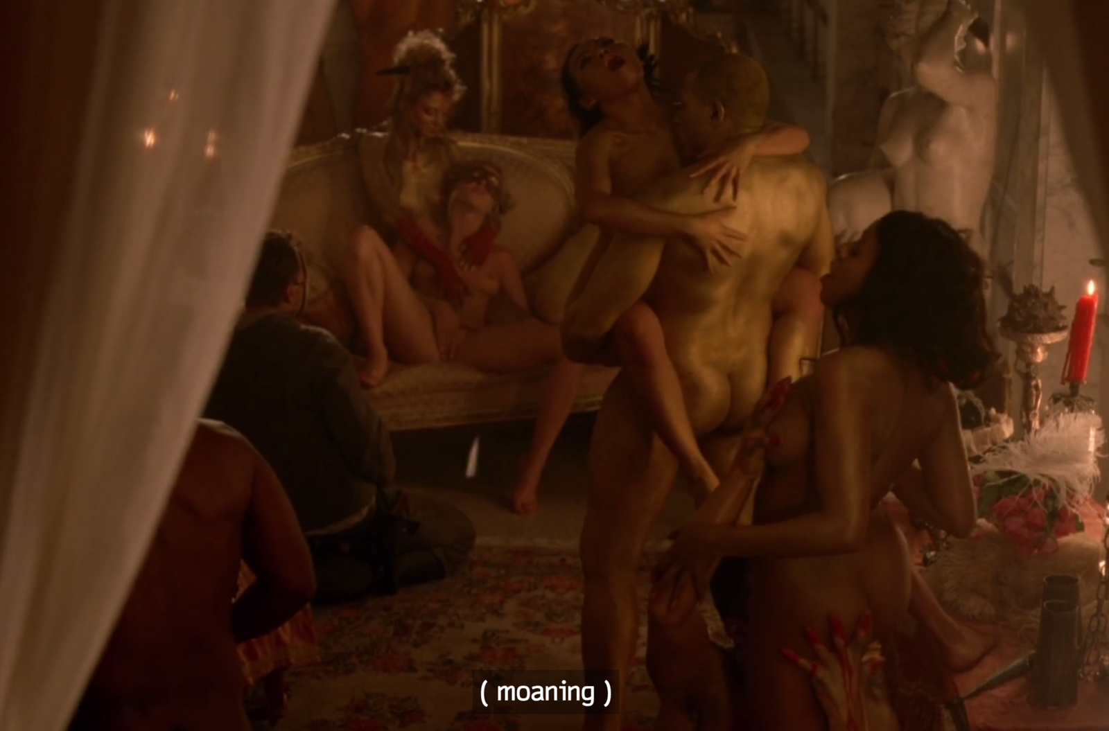 Uncensored orgy scenes