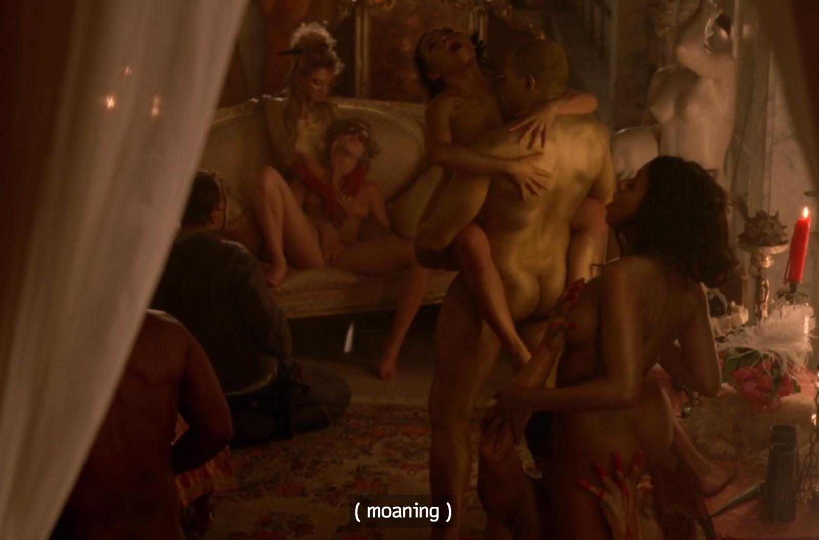 Uncensored orgy scenes