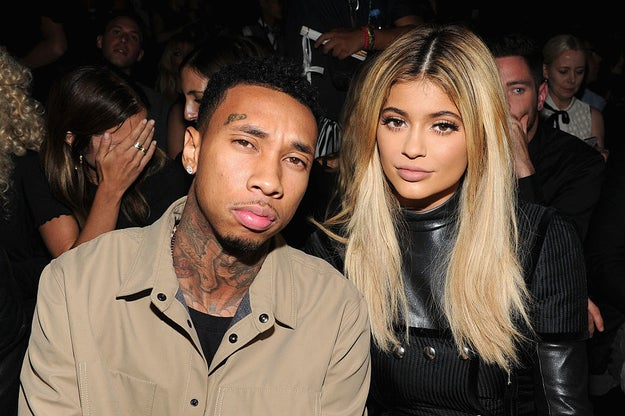 Oh hey. This is Tyga and Kylie Jenner. They're in love.