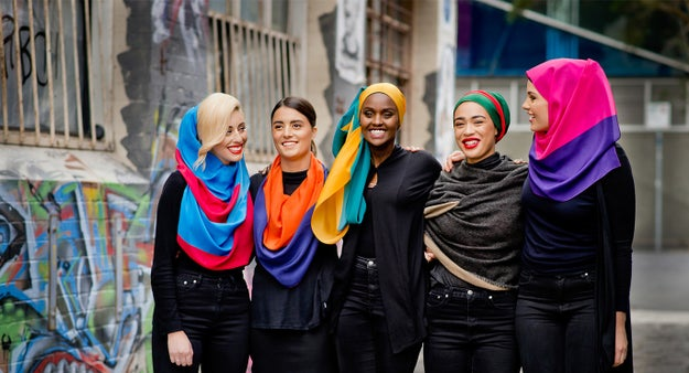 Munas created the scarf series to empower women, and celebrate each wearer's individuality and personal style. He hopes Hanson wears the scarves, which he says will compliment her
