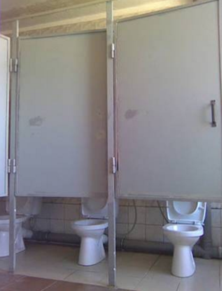 REMEMBER! You're way more useful than these bathroom stalls: