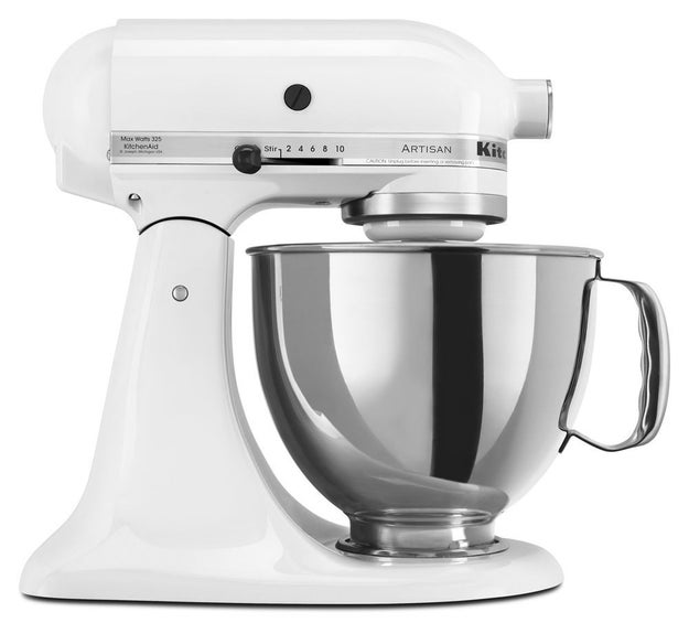 A highly-rated standing mixer in their favorite color — if they're at the top of your list and they've asked for one.