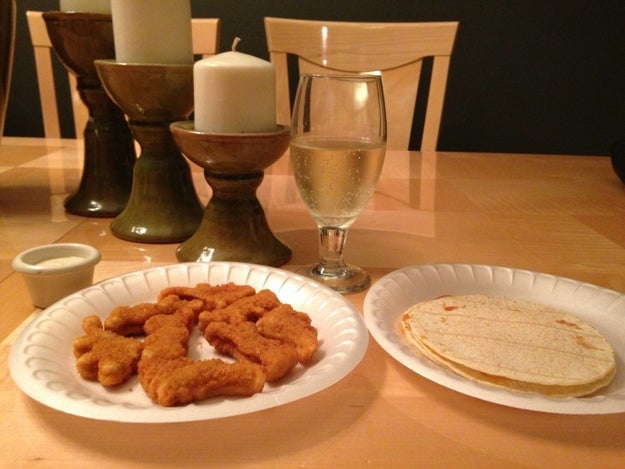 You know wine classes up any meal, no matter the shape of your chicken nuggets.