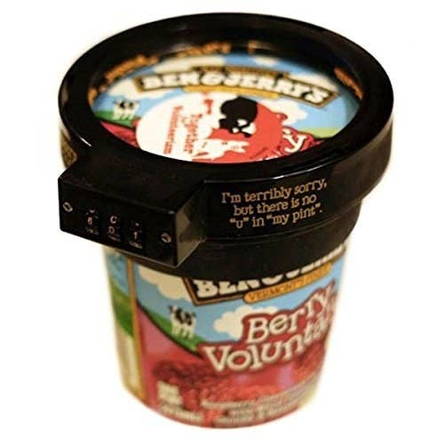 It's important to protect the people and things that you hold dear. Which is why this Ben & Jerry's Pint Lock is the home security system built for you.