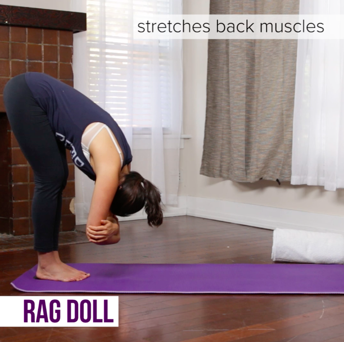 This will give your back muscles a nice stretch.