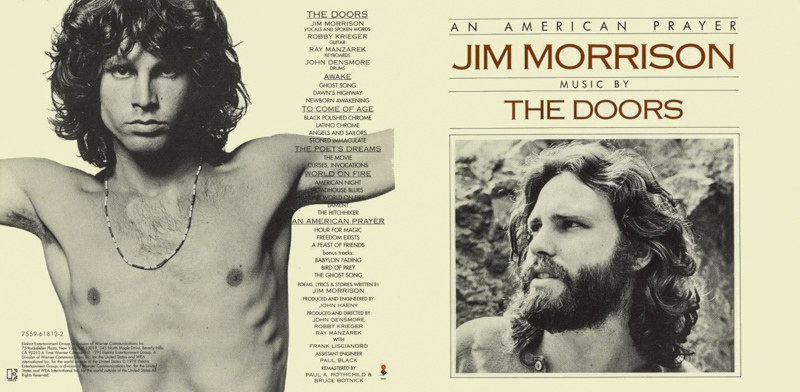 Jim Morrison The Doors Album Cover One Hundred Yea...