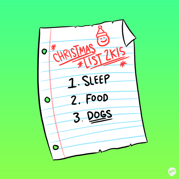 Keep your Christmas list short and to the point...